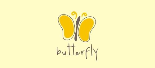 简笔画蝴蝶题材标志设计欣赏