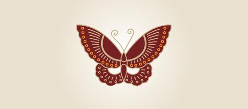 风筝蝴蝶题材标志设计欣赏