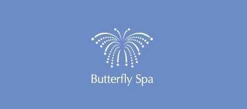湖蓝色蝴蝶题材标志设计欣赏