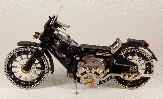 旧手表改造摩托车