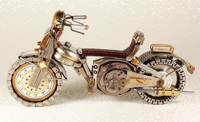旧手表改造成摩托车