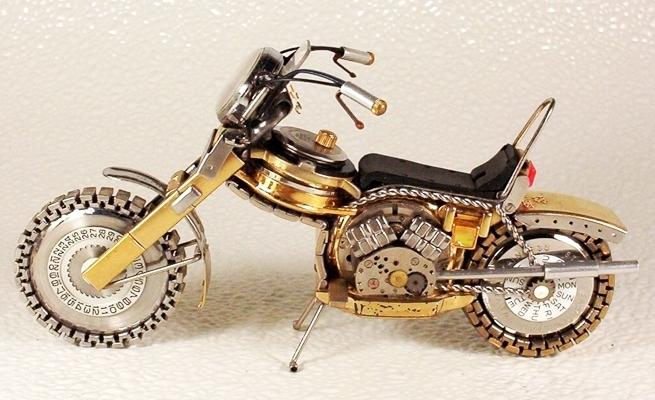旧手表改造山地摩托车