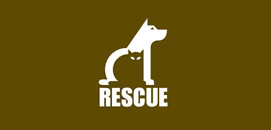 棕色猫科动物标志设计