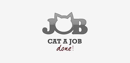 猫科动物标志设计时尚