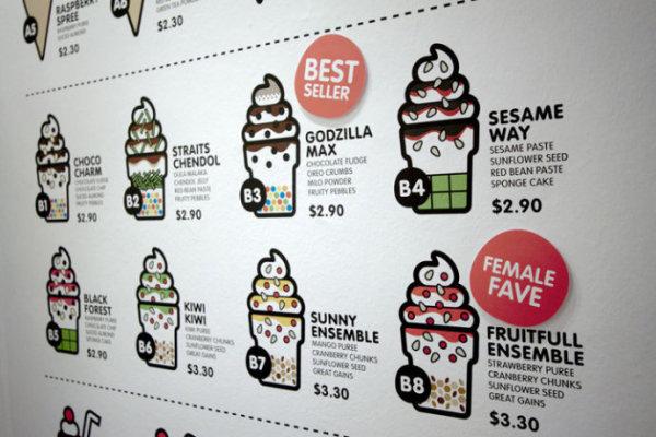 SOFT冰淇淋品牌形象设计欣赏餐牌