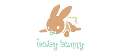 Baby题材标志设计兔宝宝