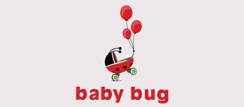 Baby题材标志设计红气球