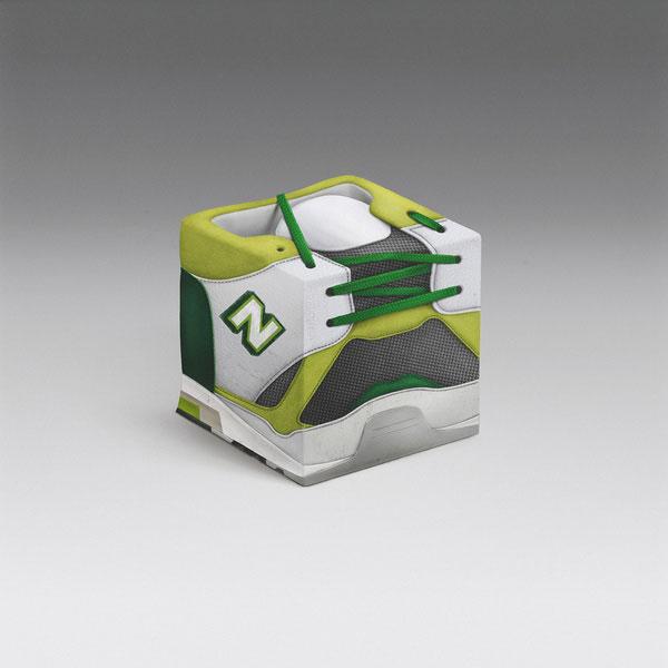 绿色运动鞋立方体