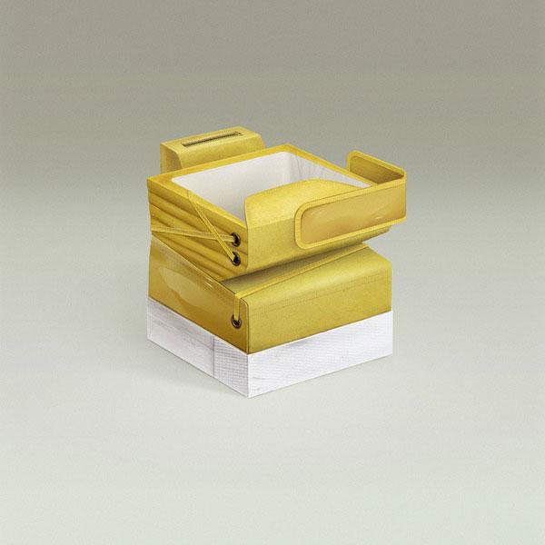 黄色立方体