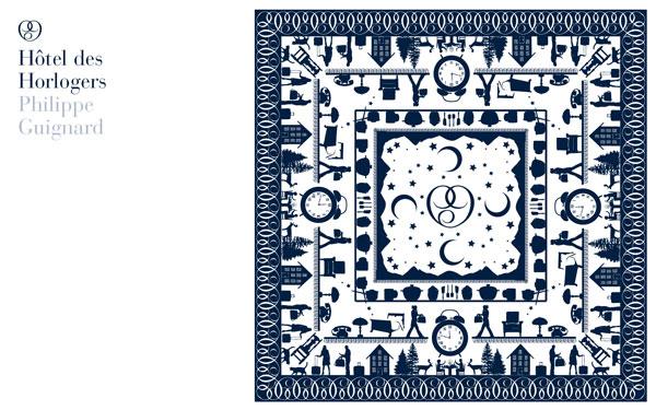 Philippe Guignard品牌设计欣赏蓝色卡片