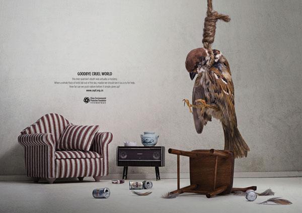 环境保护基金会创意广告