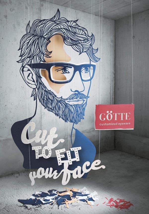国外定制眼镜平面广告设计欣赏