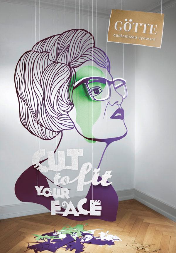 国外定制眼镜平面广告设计