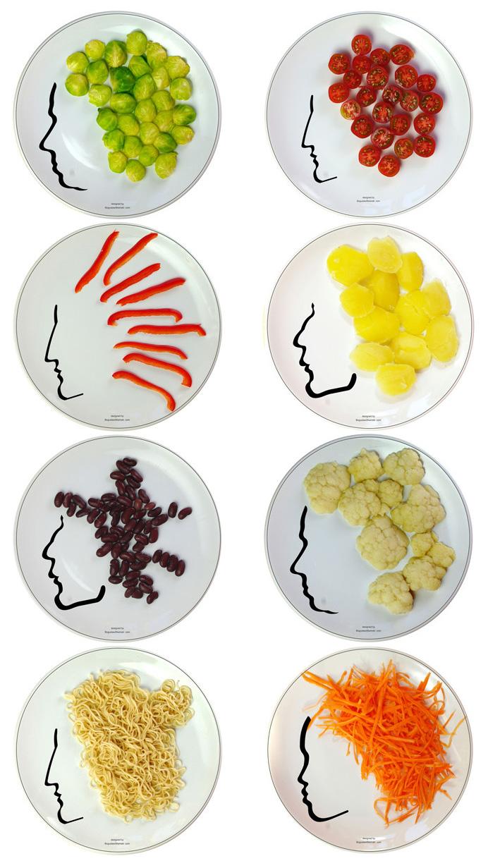 Face On 食物的发型