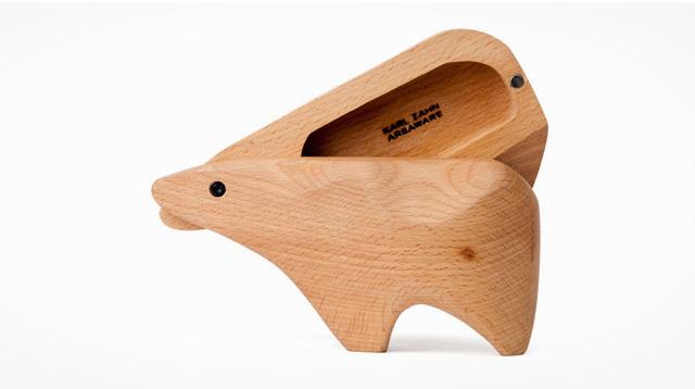 动物造型的原木盒子