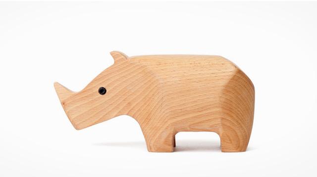 犀牛原木盒子