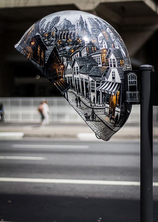 街头电话亭涂鸦艺术