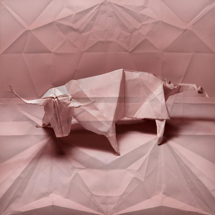 牛折纸艺术