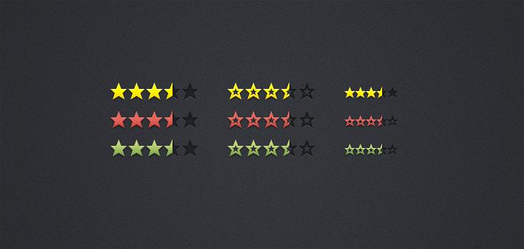 星级评分psd分层素材下载