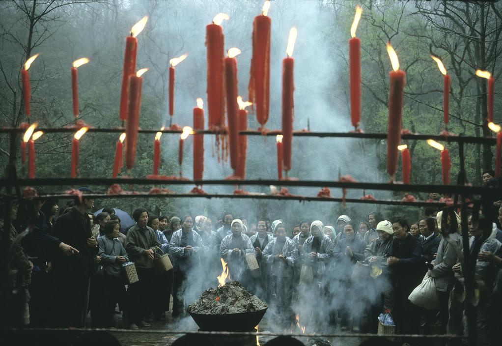 1983年,中国浙江省杭州市,正月十五的祭祀活动