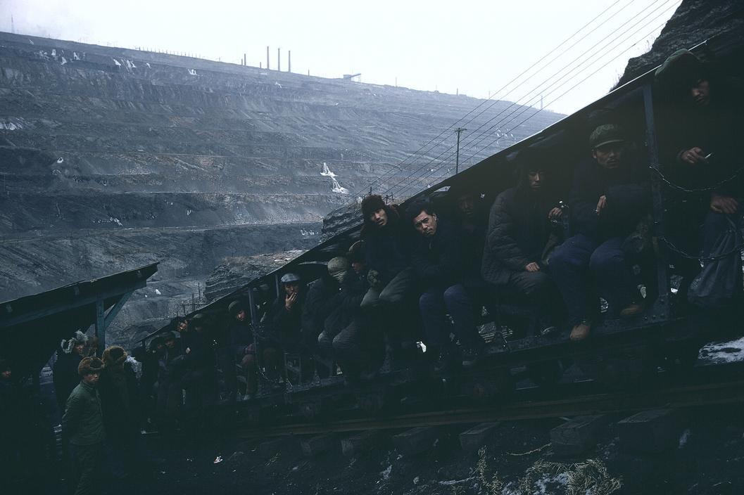 1981年,中国辽宁省抚顺市煤矿工地
