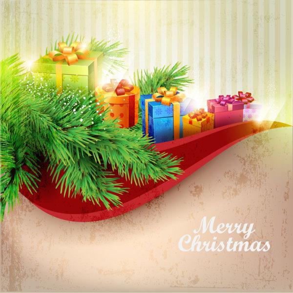 精美圣诞礼包矢量素材