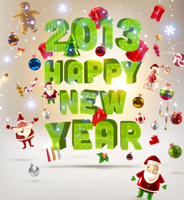 2013快乐圣诞矢量素材