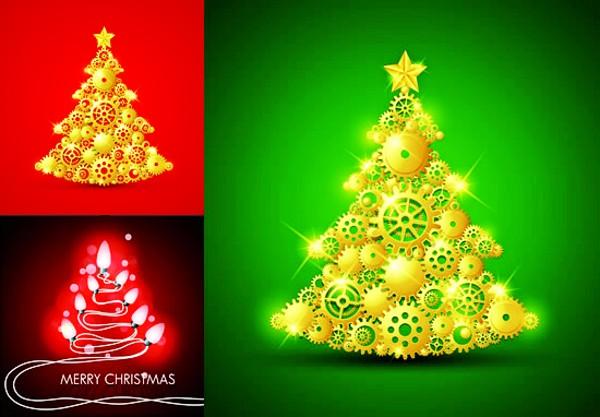 创意圣诞树矢量素材
