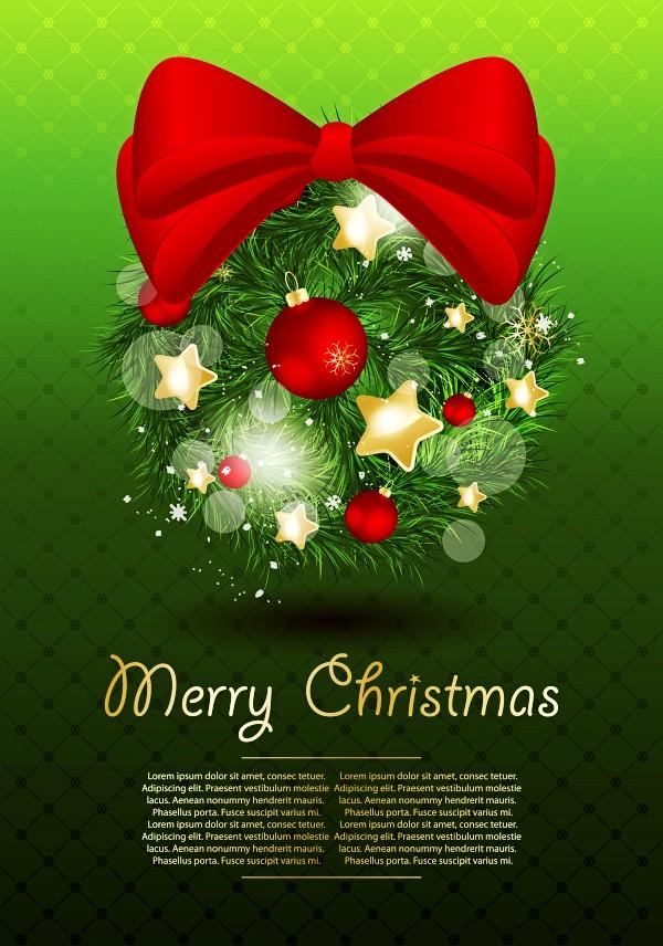 美丽圣诞装饰矢量素材