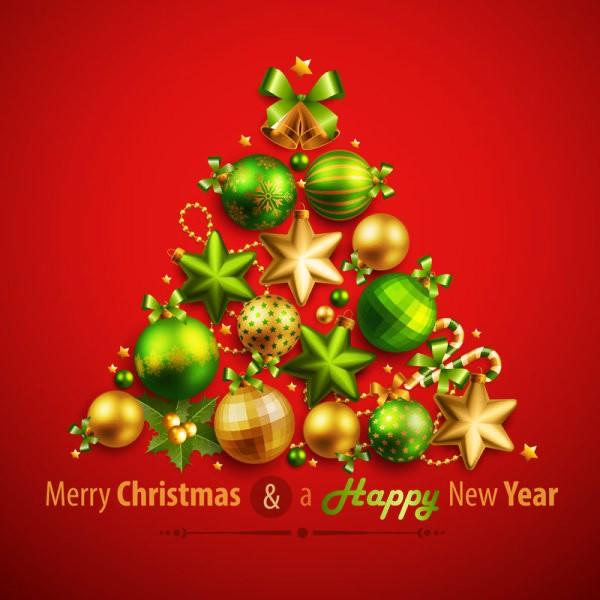 清新圣诞树矢量素材