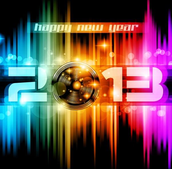 动感2013新年矢量素材