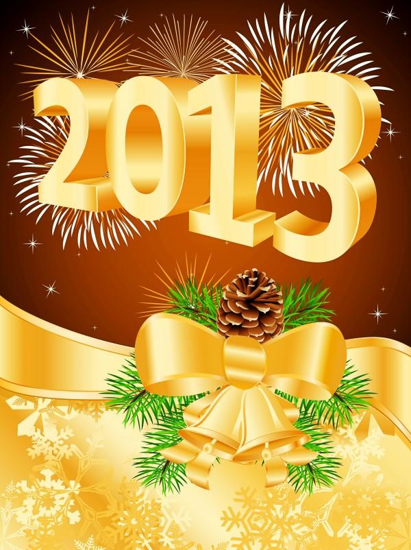 2013金色圣诞字体矢量素材