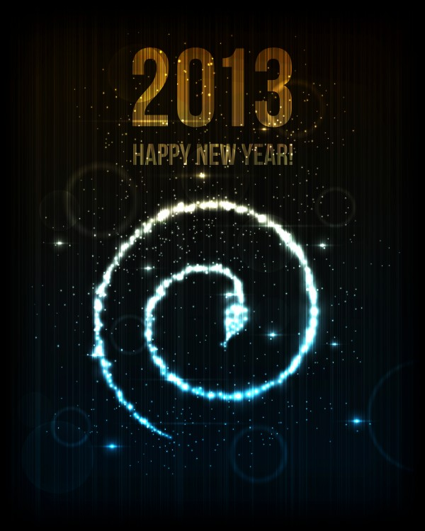 2013璀璨蛇形光环矢量素材