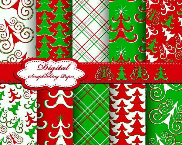 可爱圣诞树背景矢量素材