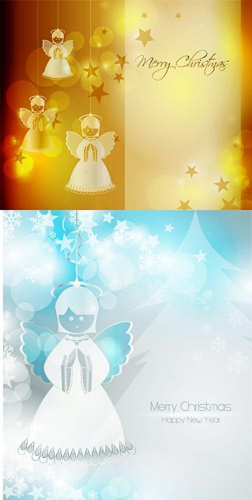 可爱天使圣诞矢量素材