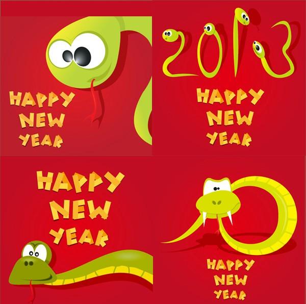 2013搞怪卡通蛇矢量素材