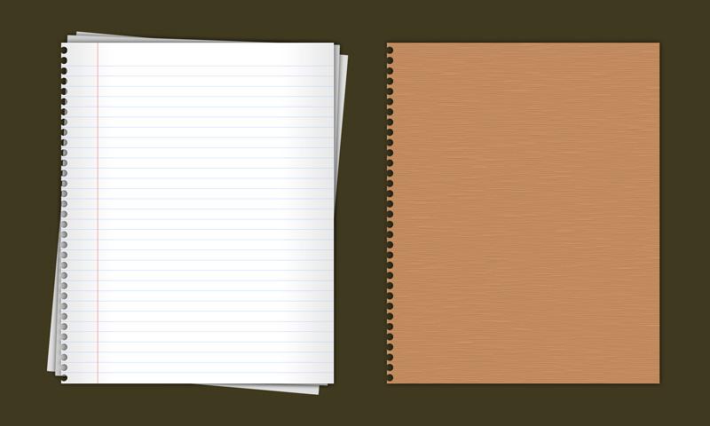 活页笔记本(带封面)psd素材
