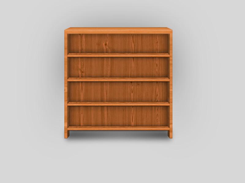 木质橱柜书架PSD素材