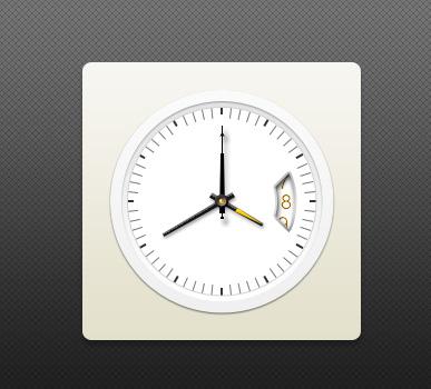 带日期壁挂时钟PSD素材