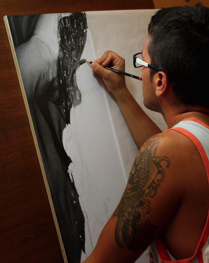 肖像铅笔画