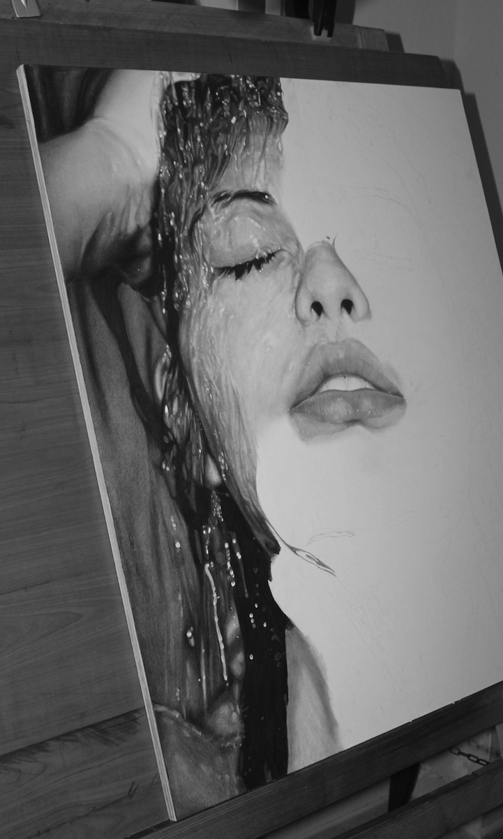 人物肖像铅笔画