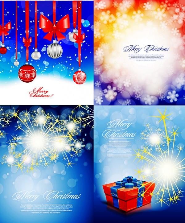 圣诞节璀璨装饰矢量素材