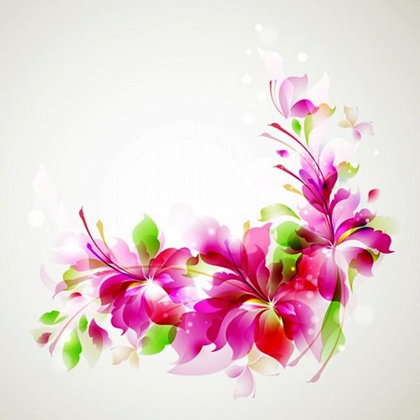 唯美花卉矢量素材