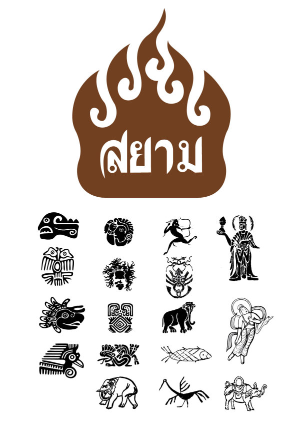 泰国佛教元素矢量素材