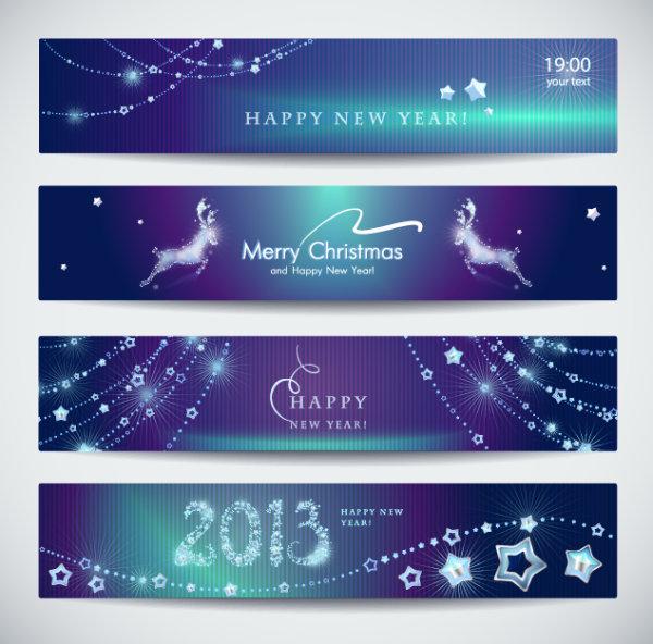 精美2013新年横幅矢量素材