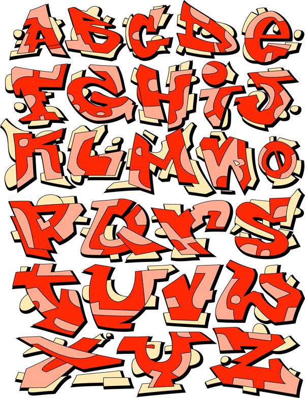 潮流创意字母矢量素材