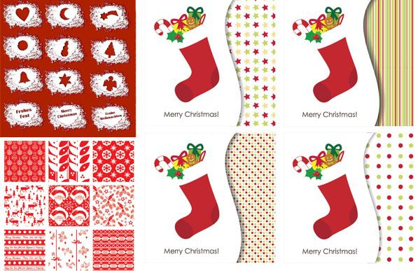 精致圣诞节装饰矢量素材