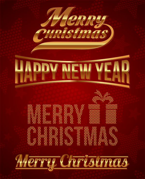 圣诞节创意字体矢量素材