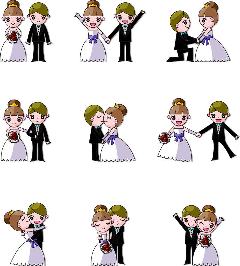 卡通婚礼矢量素材