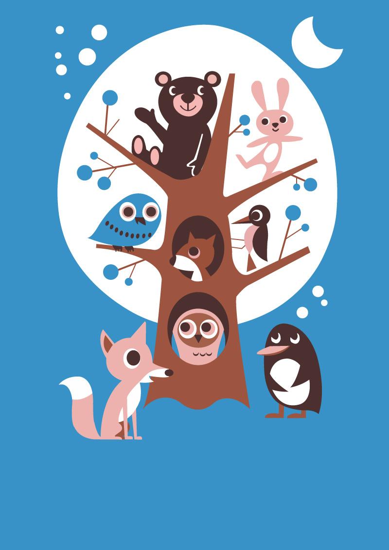 卡通矢量小动物矢量素材
